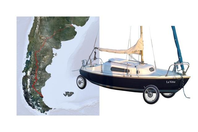 Karte mit Schiff E40